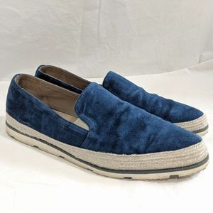 Donald Pliner Collection Perly Blue Suede Sneaker